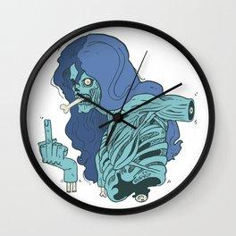 Ebeni zombi Wall Clock