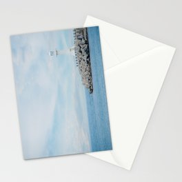 Sokcho White Lighthouse V1 Stationery Cards