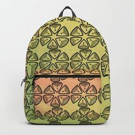 Doodle flowers on pastel background Backpack