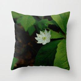Wild Strawberry Blossom Throw Pillow