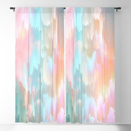 Candy Rainbow Glitch Fall #abstractart Blackout Curtain