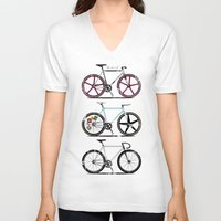 brompton V-neck T-shirts featuring This Is How I Roll by Wyatt Design