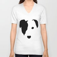 jack russell V-neck T-shirts featuring Jack Russell by Dizzy Moments