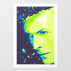 Bowie - White duke Art Print