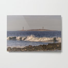 Thacher Island from Long Beach Metal Print