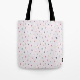 Bright Letters Tote Bag
