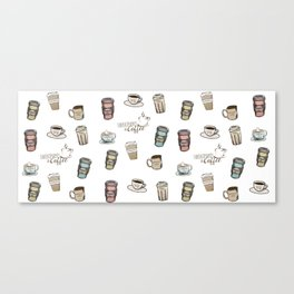 Sweatpants & Coffee Life Canvas Print