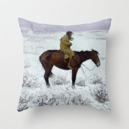 "Frederic Remington Western Art ""The Herd Boy"" Throw Pillow"