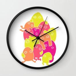 Lumps (Bright) Wall Clock