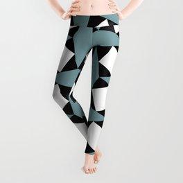 Geometric Pattern #188 (gray squares) Leggings