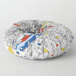 philadelphia map mondrian Floor Pillow