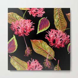 Tropical Garden for Two Metal Print