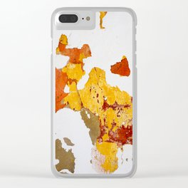 Autumn wall Clear iPhone Case