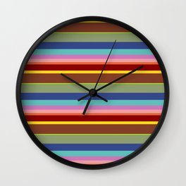 Sierra Style Striped Wall Clock