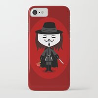 vendetta iPhone & iPod Cases featuring Vendetta by Sombras Blancas Art & Design