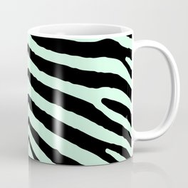 Mint Green Zebra Jungle Stripes Coffee Mug