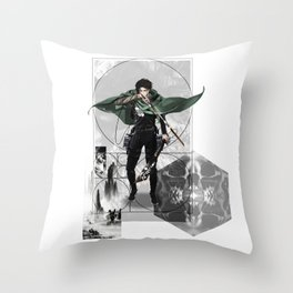 Captain Levi Attack on Titan Shingeki no kyojin Throw Pillow