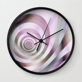 Pastel Colors Striped Pattern Wall Clock