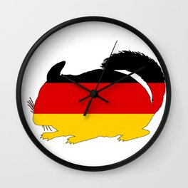 German Flag - Chinchilla Wall Clock