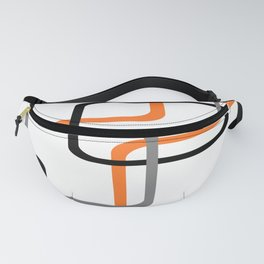 Geometric Rounded Rectangles Collage Orange Fanny Pack