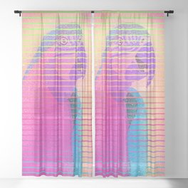 Buddy Parrot Sheer Curtain