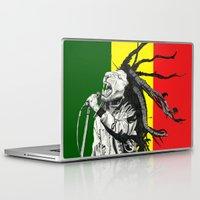 marley Laptop & iPad Skins featuring Rastalion Marley by Paula Savage