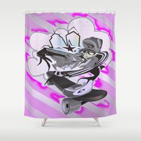 street Shower Curtains featuring STREET by Zumico