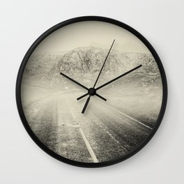 The Road and the Mountains II Wall Clock