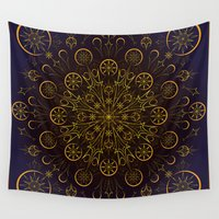 clockwork Wall Tapestries featuring Clockwork Compass by Orison Crafts