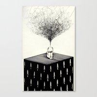 anxiety Canvas Prints featuring Anxiety by Felicia Chiao