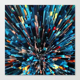 Three Dimensional Color Stacks Canvas Print