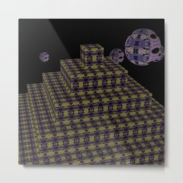 Pyramide Grotesque 40 Metal Print