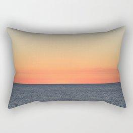Setting Sun on the Open Sea Rectangular Pillow