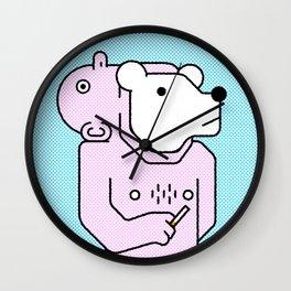 Human mascot Wall Clock