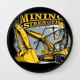 Mining Strength Wall Clock