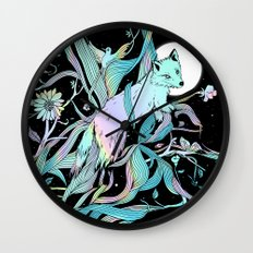Wild Emergence (Warm Freeze) Wall Clock