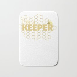 Bee Hoodie I'm a Keeper funny Save the Bees Hoodie Bath Mat