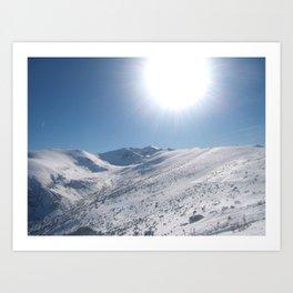 Snow story Art Print