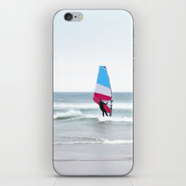 Windsurfer with Red White and Blue iPhone Skin
