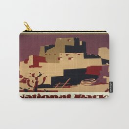 Vintage poster - Pueblos of the Southwest Carry-All Pouch