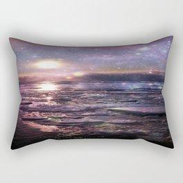mystic waters blue lavender burgundy Rectangular Pillow