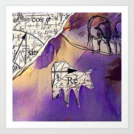 Bovem mathematica purpura Art Print