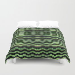Modern Wavy Stripes Pattern Duvet Cover