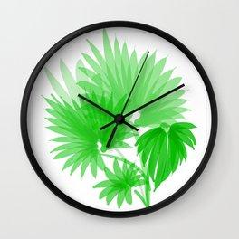 feuilles de palmier I Wall Clock