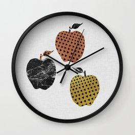 Scandi Apples Wall Clock