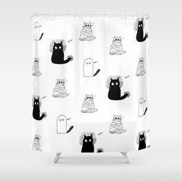 Halloween Cats Shower Curtain