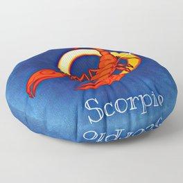 Zodiac_Sign_Scorpio Floor Pillow