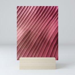 Diagonal Leaf Red Mini Art Print