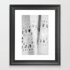 Eyelet Framed Art Print
