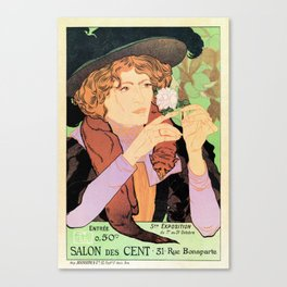 Art Nouveau Expo Salon des Cent Paris Canvas Print